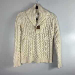Peregrine Wool Cable Sweater Sz S #1318